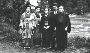 Early members of the Soka Kyoiku Gakkai with Makiguchi (right) in 1941 [©Seikyo Shimbun]
